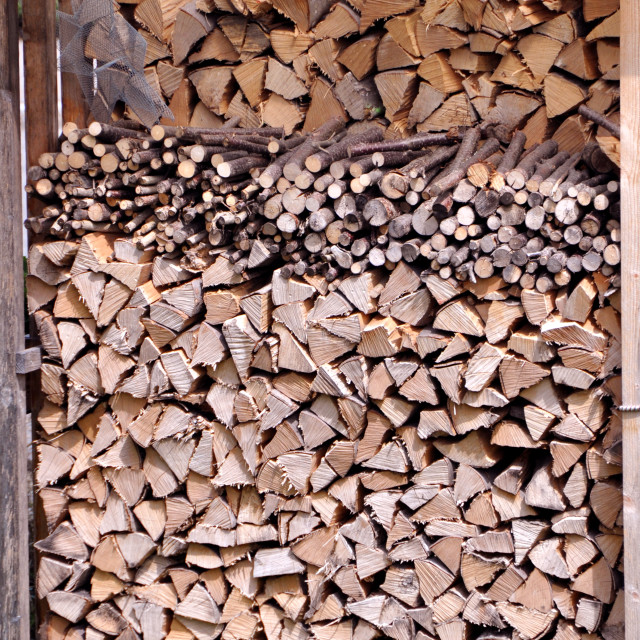 """""""Stacked Firewood"""" stock image"""