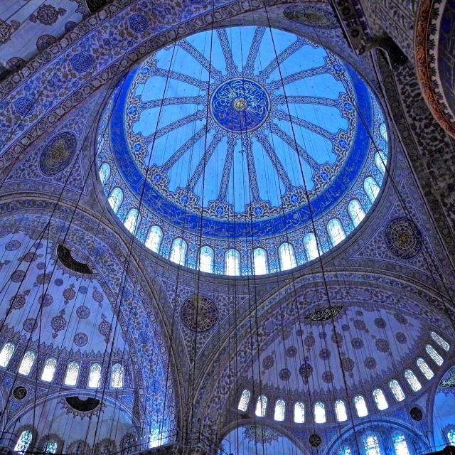 """""""Interno della moschea blu a Istanbul"""" stock image"""