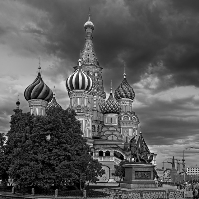 """St Basil's Black and White"" stock image"