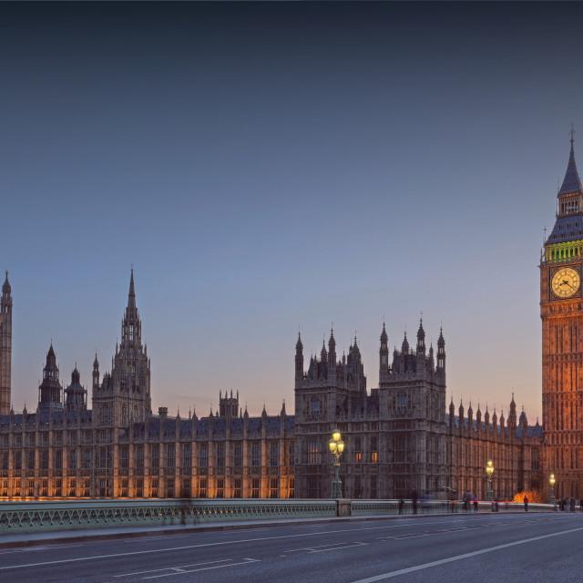 """Parliament at Dusk"" stock image"