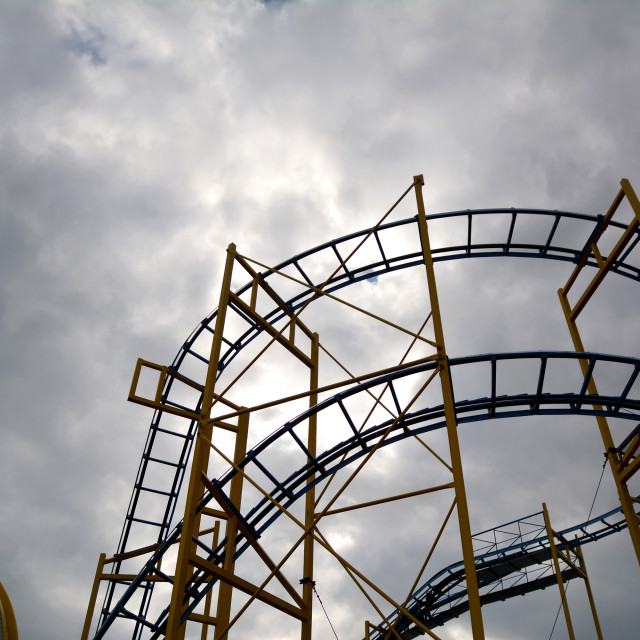 """""""Roller coaster"""" stock image"""