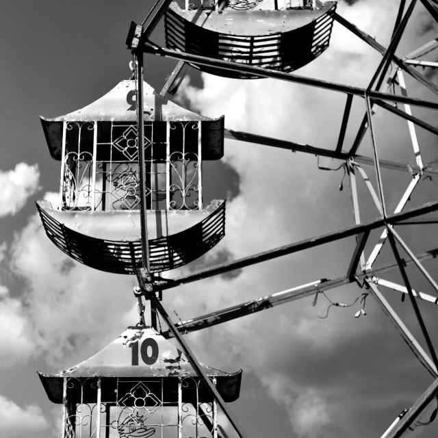 """Monochrome Ferris Wheel"" stock image"