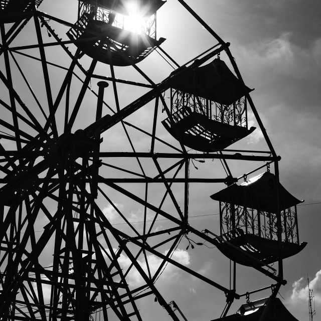 """Ferris Wheel Sun"" stock image"