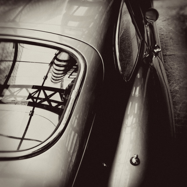 """E Type Jaguar Sports Car"" stock image"