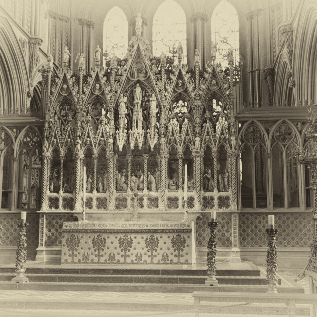 """""""The Alter at Peterborough Cathedral"""" stock image"""