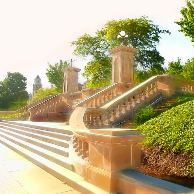 """beautiful steps"" stock image"