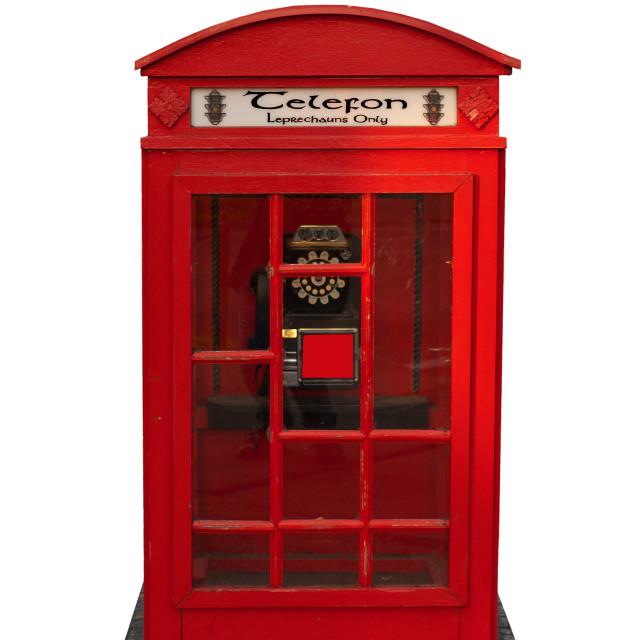 """Leprechaun phone booth"" stock image"