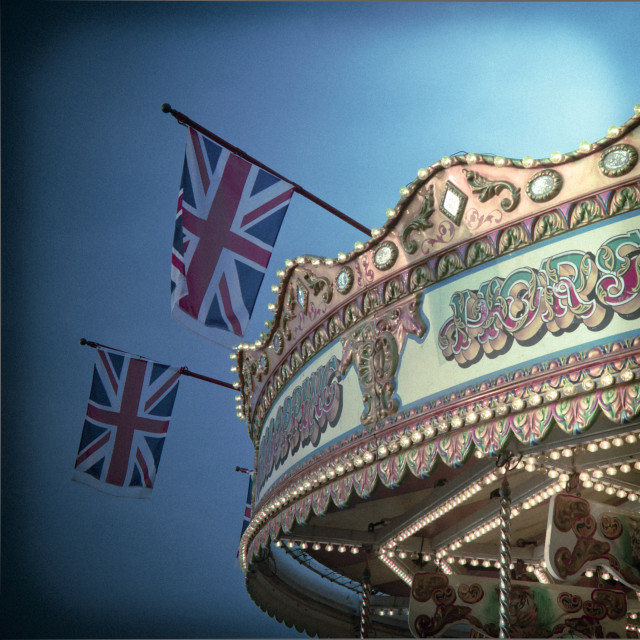 """Carousel on Brighton Pier, Brighton"" stock image"