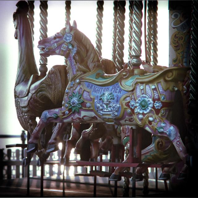 """Carousel on Brighton Beach"" stock image"