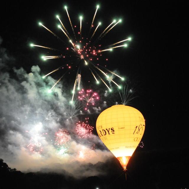 """""""Bristol Ballon Fiesta"""" stock image"""