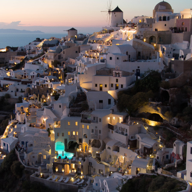 """Santorini Lights"" stock image"