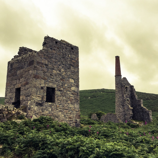"""Old Tin Mine"" stock image"