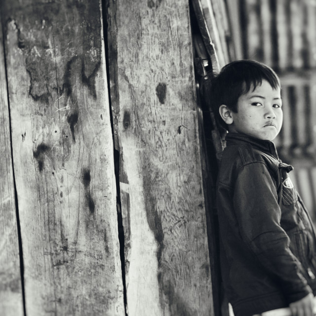 """Child in highland of Vietnam"" stock image"