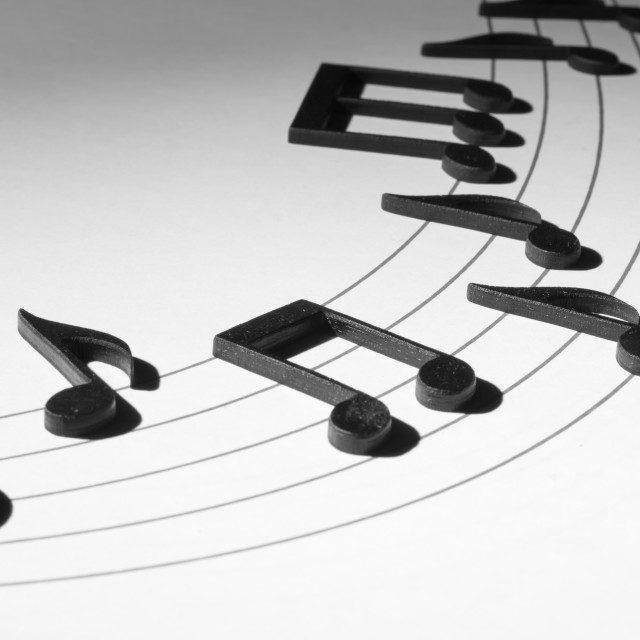 """Black Musical Notes"" stock image"