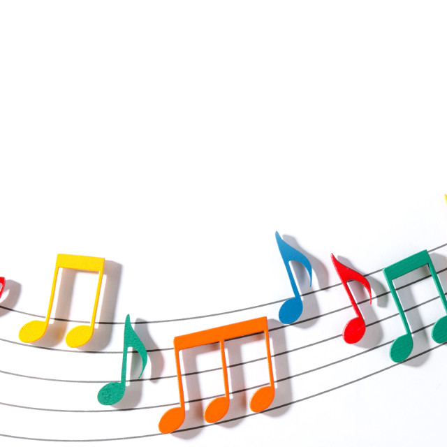 """Color Musical Notes"" stock image"