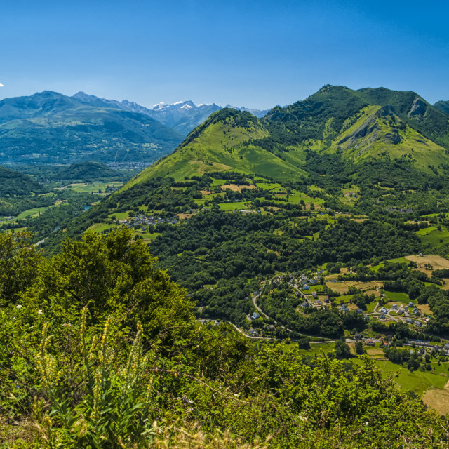 """Mountain view towards the Pyrenees."" stock image"