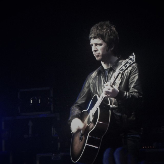 """""""Noel Gallagher (Oasis 2009) in Blue"""" stock image"""