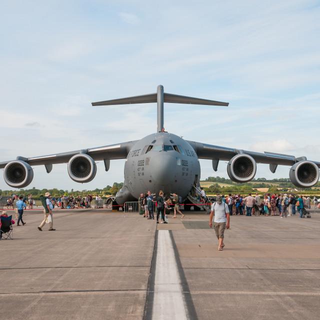 """""""Boeing C-17 Globemaster III"""" stock image"""