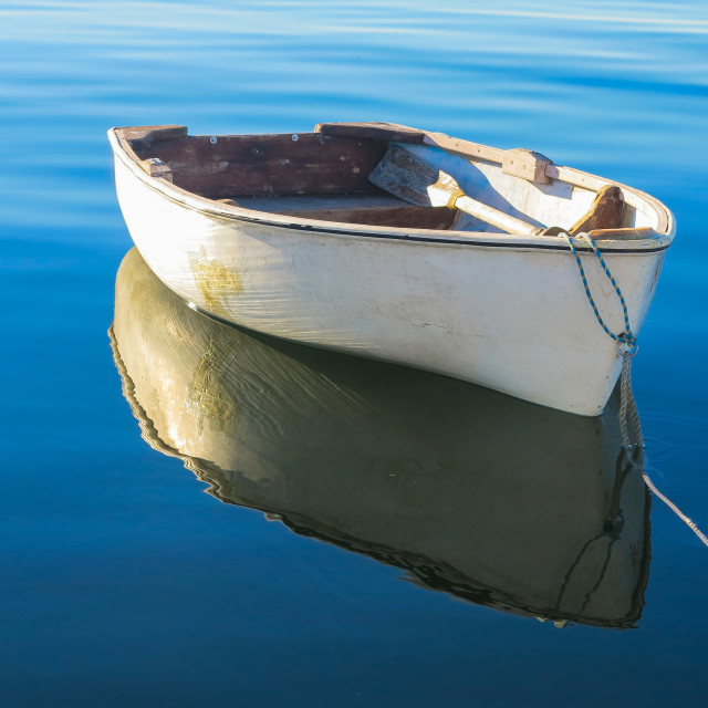 """""""Tranquil Dinghy 2"""" stock image"""