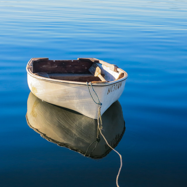 """""""Tranquil Dinghy 1"""" stock image"""