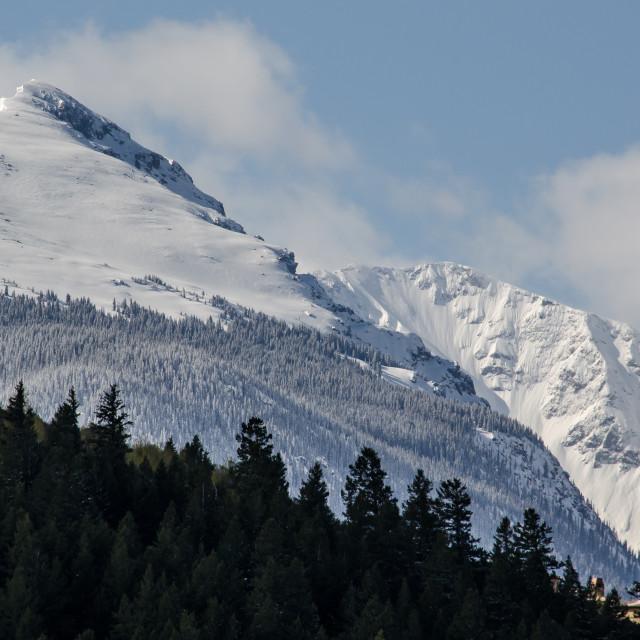 """Snow Capped Peak"" stock image"