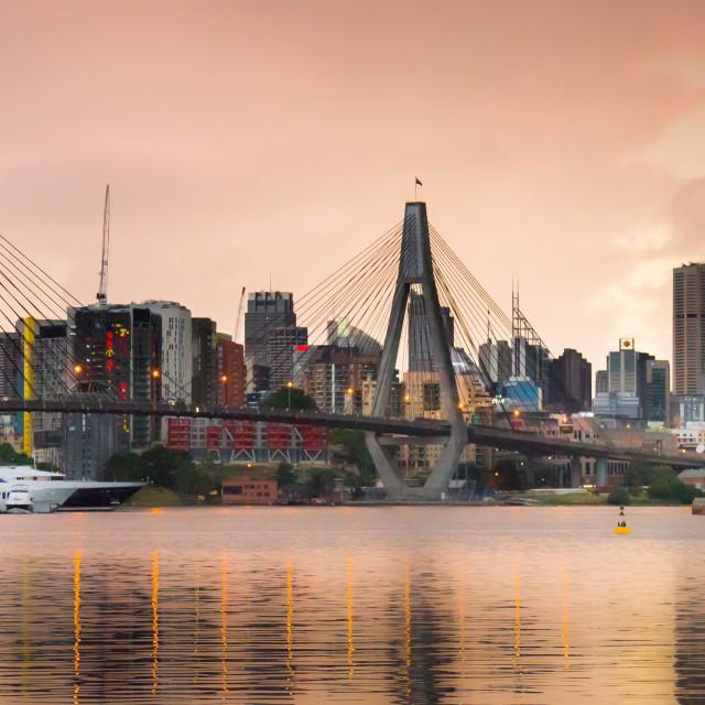 """""""Anzac Bridge Sydney Australia"""" stock image"""