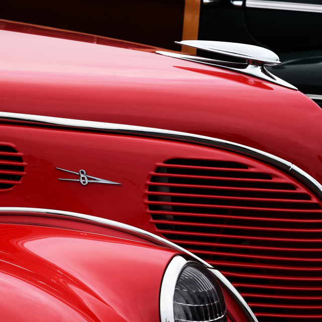 """Red Vintage Car"" stock image"
