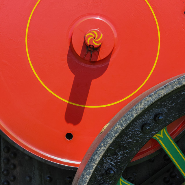 """steam roller detail"" stock image"