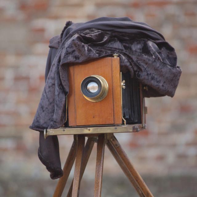 """Antique Plate Camera"" stock image"
