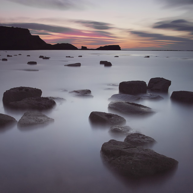 """Saltwick Bay Sunset"" stock image"