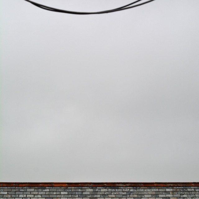 """Wires and roof"" stock image"