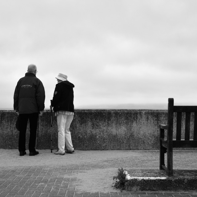 """Old couple"" stock image"