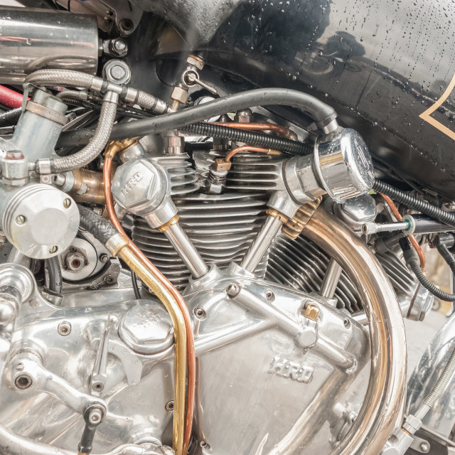 """HRD motorcycle engine"" stock image"