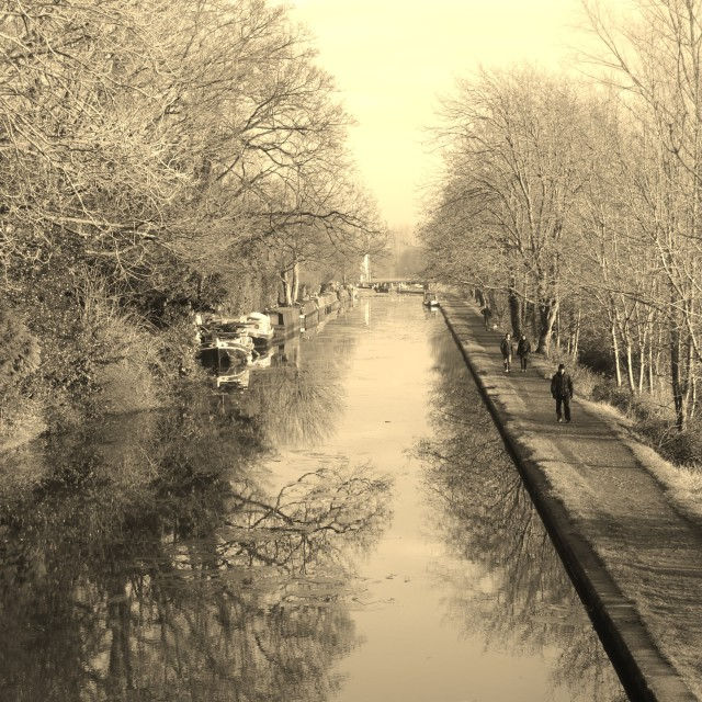 """""""January Canal"""" stock image"""
