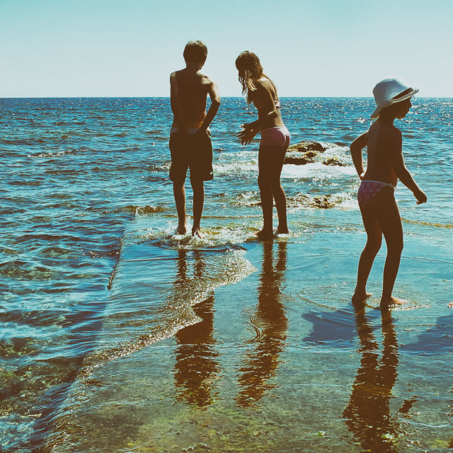 """""""Children at the sea"""" stock image"""