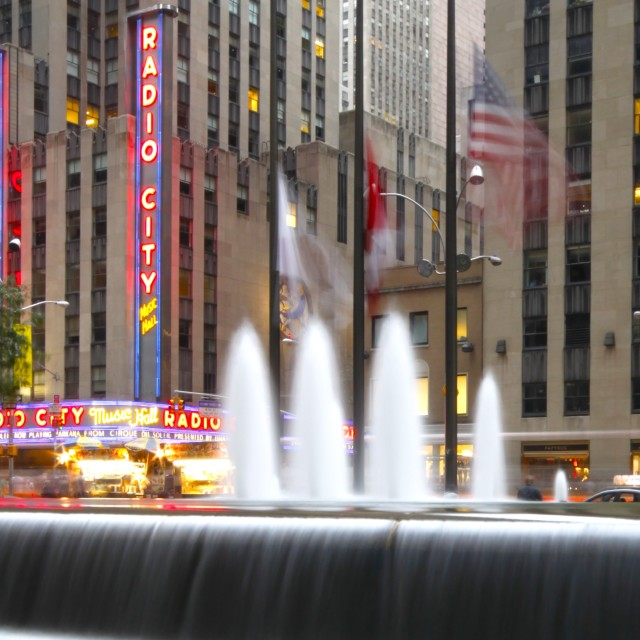 """Fountains of Rockefeller, New York"" stock image"