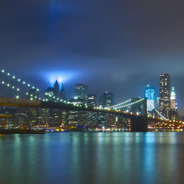 """Tribute in Light, New York City"" stock image"