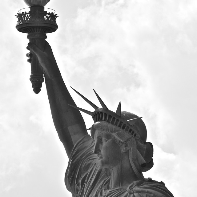 """Majestic Statue of Liberty"" stock image"