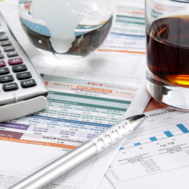 """""""business chart showing financial success at the stock market"""" stock image"""