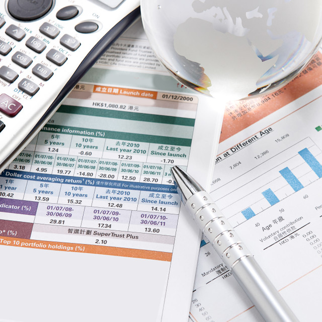 """""""financial charts and graphs on the table"""" stock image"""