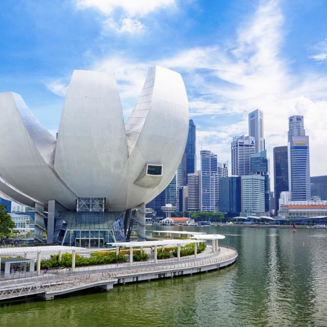 """""""Singapore city skyline"""" stock image"""