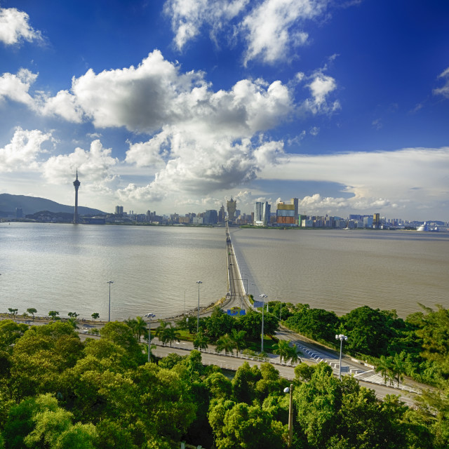 """macau city in the morning"" stock image"