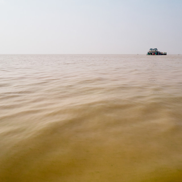 """""""Floating Village Isolated House, Cambodia"""" stock image"""