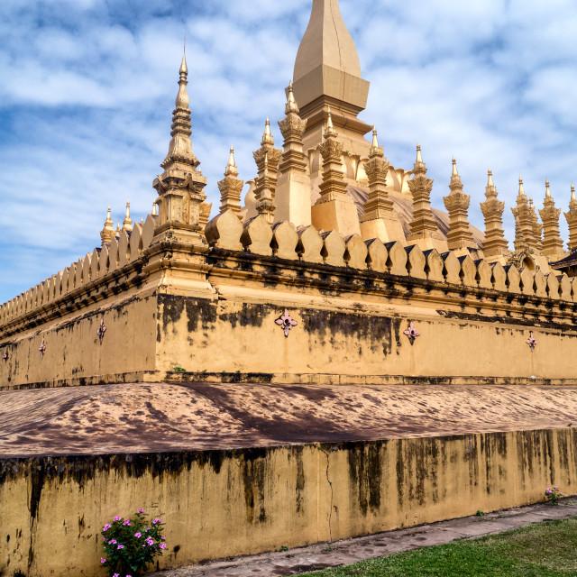 """Golden Temple (Great Sacred Stupa), Laos"" stock image"