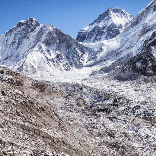 """Mt Everest & Base Camp in Snowy Himalayan Mountain"" stock image"