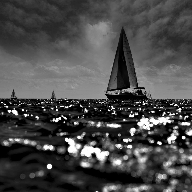 """On High Seas"" stock image"