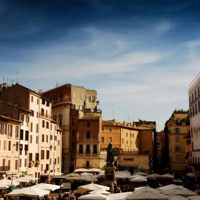 """""""Campo dei Fiori, Rome"""" stock image"""