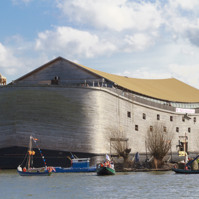 """Replica Noah's Ark"" stock image"