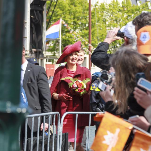 """Queen Maxima arriving"" stock image"