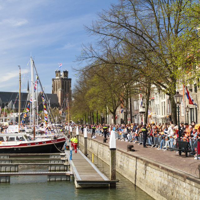 """Kings day in Dordrecht"" stock image"